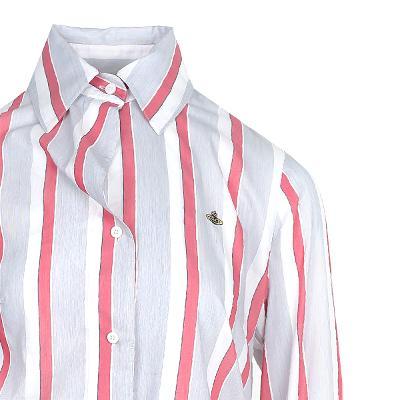 unbalance line stripe shirt multi